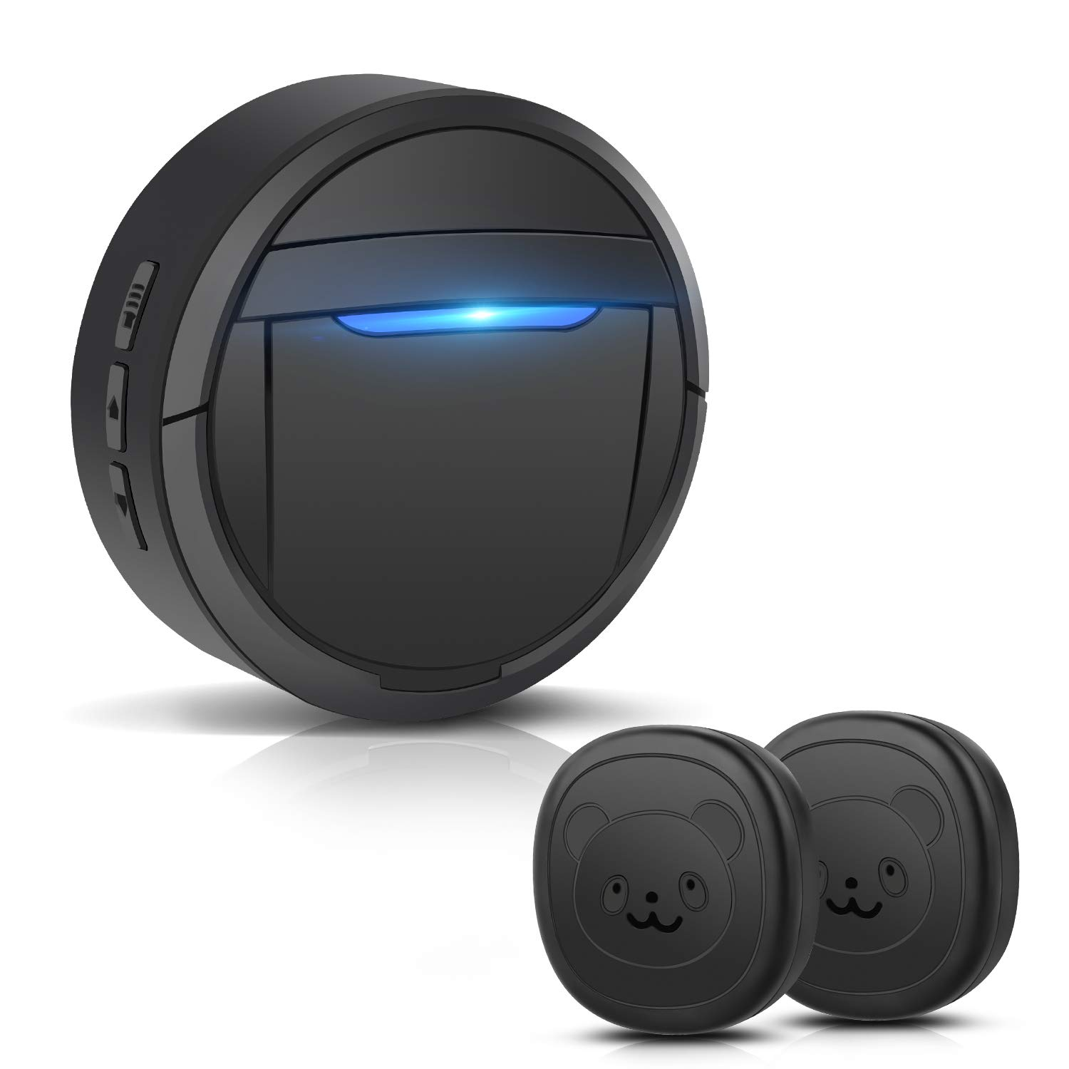 Dinkung Dog Doorbells with Wireless for Doggie to Ring to Go Outside, Waterproof Dog Doorbell for Potty Training, Black by Dinkung