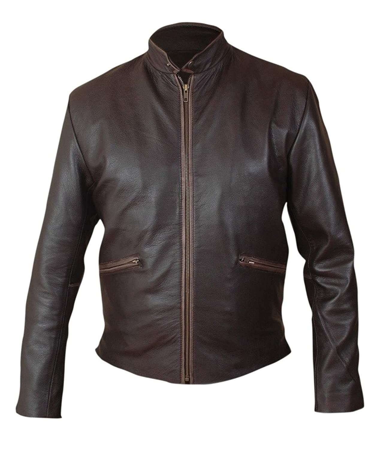 F&H Mens Tron Legacy Sam Flynn Genuine Leather Jacket at Amazon Mens Clothing store: