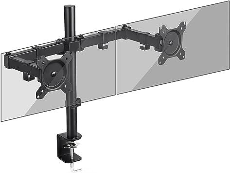 SIMBR Soporte Monitor con Doble Brazo para PC y Pantalla LCD LED ...