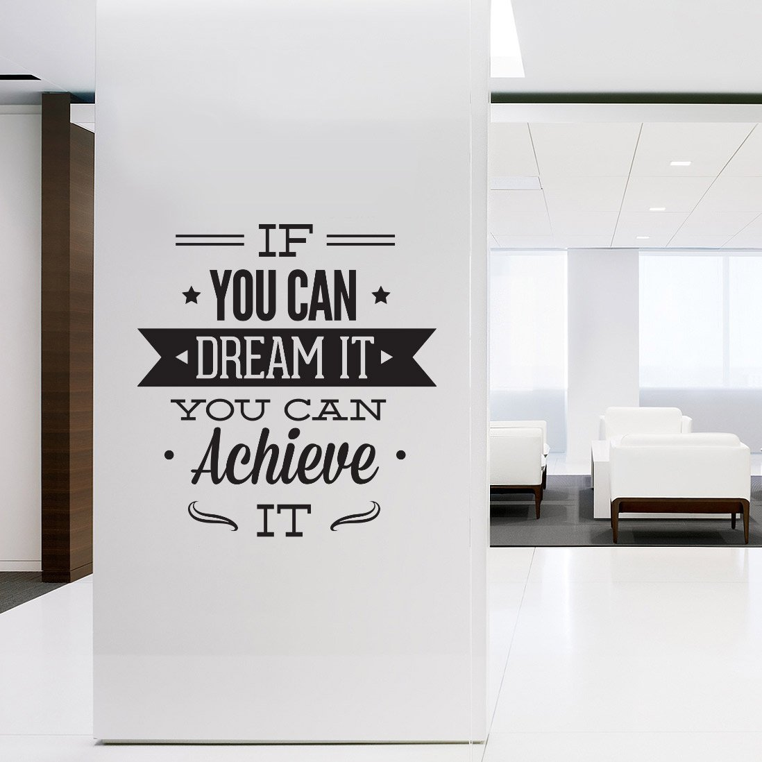 Asmi Collections Self Adhesive Pvc Wall Stickers Motivational Quotes