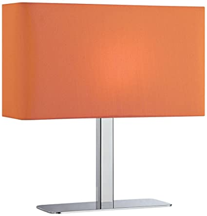 Lite source ls 21797corn levon table lamp with orange fabric shade lite source ls 21797corn levon table lamp with orange fabric shade chrome mozeypictures Choice Image