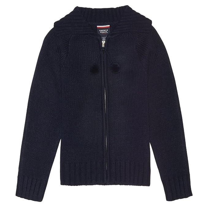 f06dd9a3f Amazon.com  French Toast Girls  Pom Pom Zip Up Sweater  Clothing