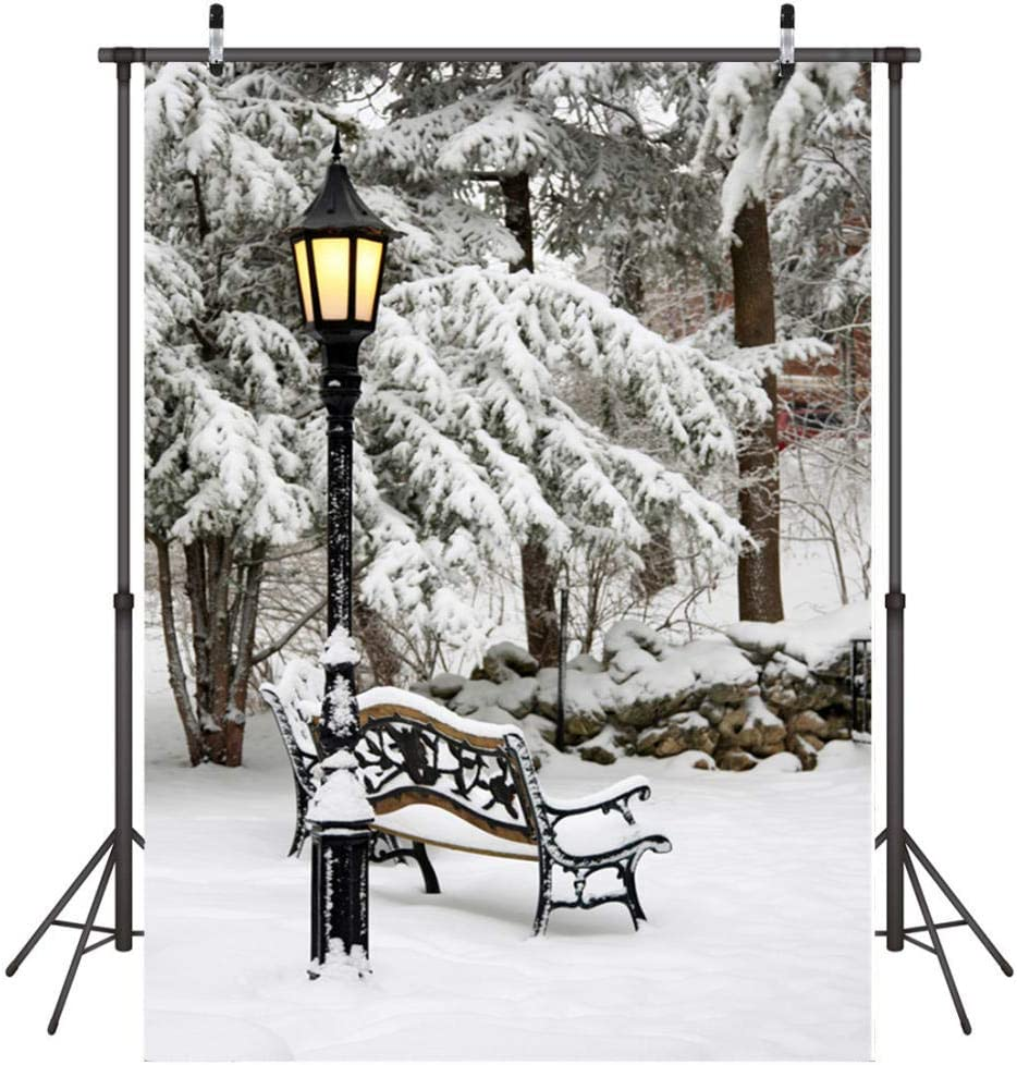 1.5m x 2.1m Snow Street Newborn Photography Baby Photo Studio Props Adults Portrait Pictures Video Holiday Photography Backdrop,5x7 FT