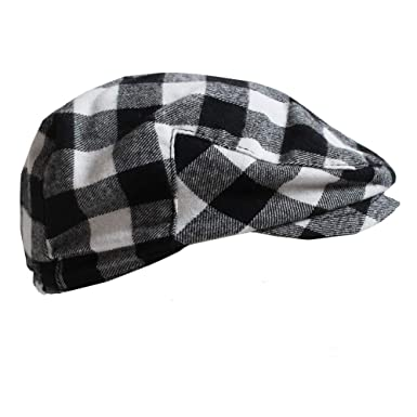 21a8fde7 juDanzy Baby & Toddler Plaid Cabbie Hats (0-3 Months, Black & White