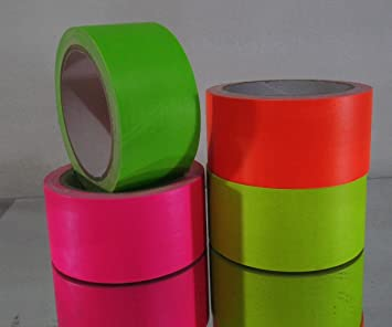 4 x neon uv adhesive tape fluorescent black light amazon 4 x neon uv adhesive tape fluorescent black light decoration gaffa duct sticky foil yellow green aloadofball Image collections
