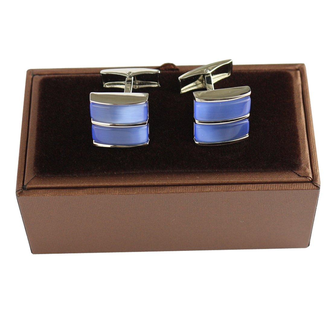 PINMEI 2 PCS Cufflinks Men Women Shirt Business Weeding Christmas Halloween Jewelry Set 1) RC05