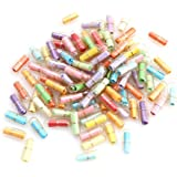50 Pcs Lovely Cute Clear Pill Shaped Plastic Message Bottles Mini Capsule Love Friendship Wishing Bottles With Paper