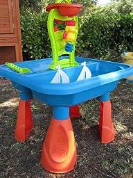 playgo 5450 sand und wasser spieltisch mit deckel spielzeug. Black Bedroom Furniture Sets. Home Design Ideas