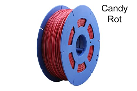Filamento para impresora 3D, 1 , rollo de PLA 1,75 mm, negro/rojo ...