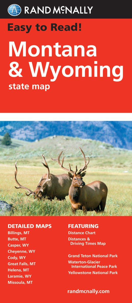 Easy To Read: Montana, Wyoming State (Rand Mcnally Easy to Read ...