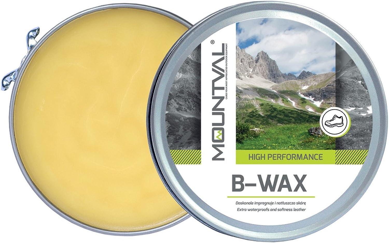 Mountval B-Wax, cera impermeabilizante para zapatos de cuero y botas a base de cera de abejas natural, 100 ml