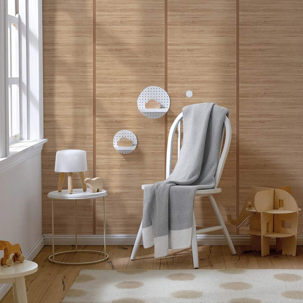 Amazon.com: YXYH Papel pintado de madera de lino de grano ...