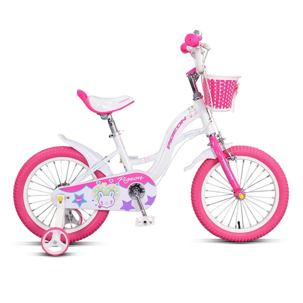 子ども用自転車 子供の自転車シングルスピードマウンテンバイク男の子自転車女の子自転車高炭素鋼フレーム、3-10歳の子供に適して (Color : Pink, Size : 16inches) 16inches Pink B07R7LPGJ2