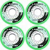Labeda Wheels Inline Roller Hockey Shooter All Purpose Green 72mm 83A x4