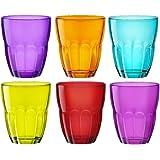 Bormioli Rocco Ercole Colored Glasses Tumbler - 230ml (8 once) - Multicolore - Lotto di 6