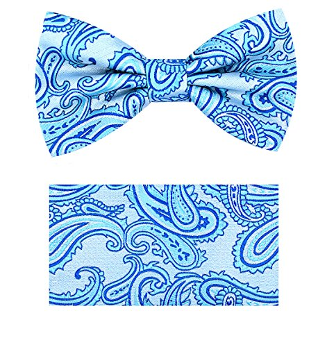 Paisley Bow Tie Set- (Paisley Turquoise)-R (Paisley Turquoise)