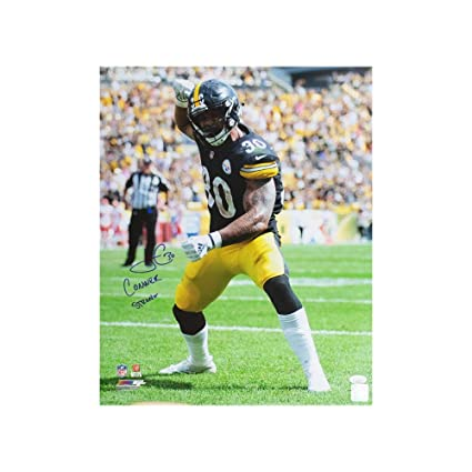 d4f3ee3ab3c James Conner Conner Strong Autographed Pittsburgh Steelers 16x20 ...