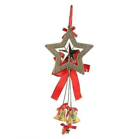 BHYDRY Navidad Campana Bola de Cadena árbol Colgante Colgante Adorno decoración Moda