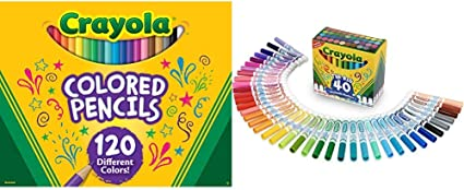 Crayola Colored Pencils No Repeat Colors 120 Count SAFE /& NON-TOXIC NEW