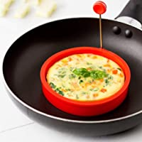 CHOUREN Silicone Ring Omelette Fried Egg Shaper Eggs Mould Cook,Variations:red