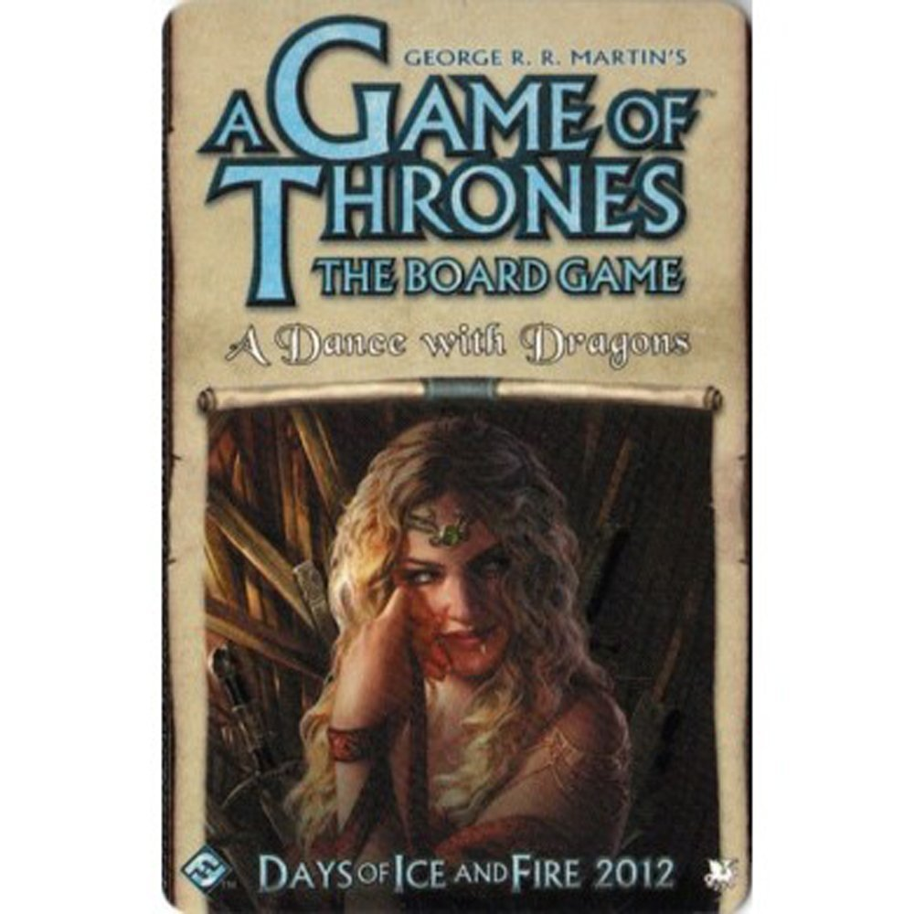 A Dance With Dragons FANTASY FLIGHT GAMES 331311 A Game of Thrones The Board Game