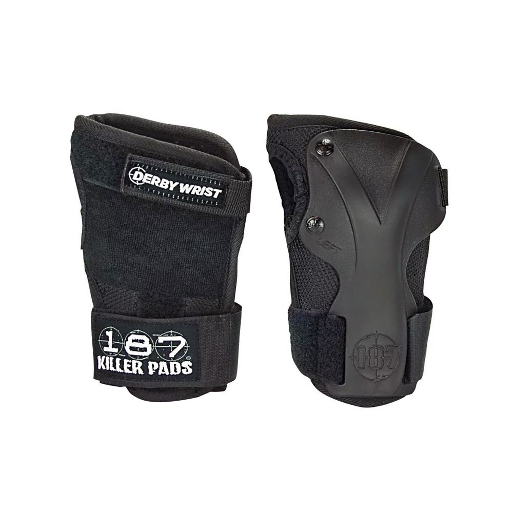 187 Killer Pads Derby Wrist Guard - Black - X-Large by 187 Killer Pads