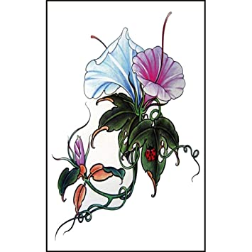 Amazoncom 2 Pcs Flower Morning Glory Temporary Tattoos Stickers