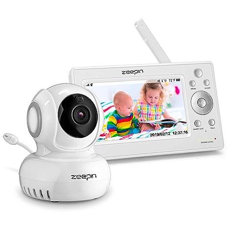 ZEEPIN Monitor para bebé con cámara pantalla LCD de 5