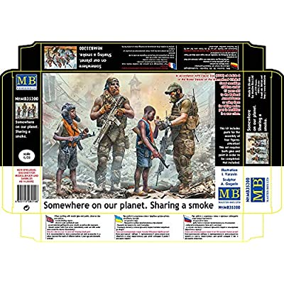 Master Box 35200 - 1/35 Somewhere On Our Planet. Sharing a Smoke Scale Model Kit: Toys & Games