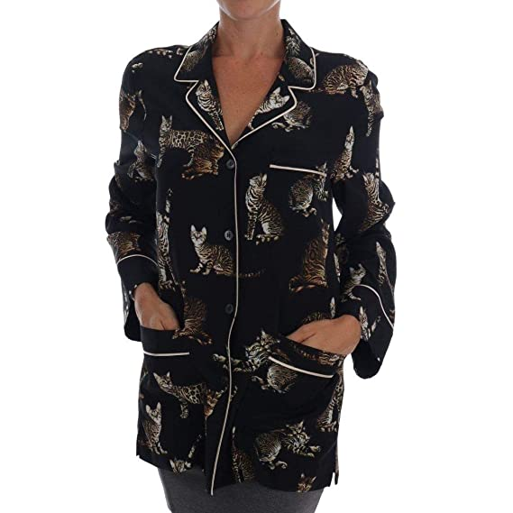 af267221738608 Image Unavailable. Image not available for. Colour  Dolce   Gabbana  Multicolor Silk Cat Print Shirt