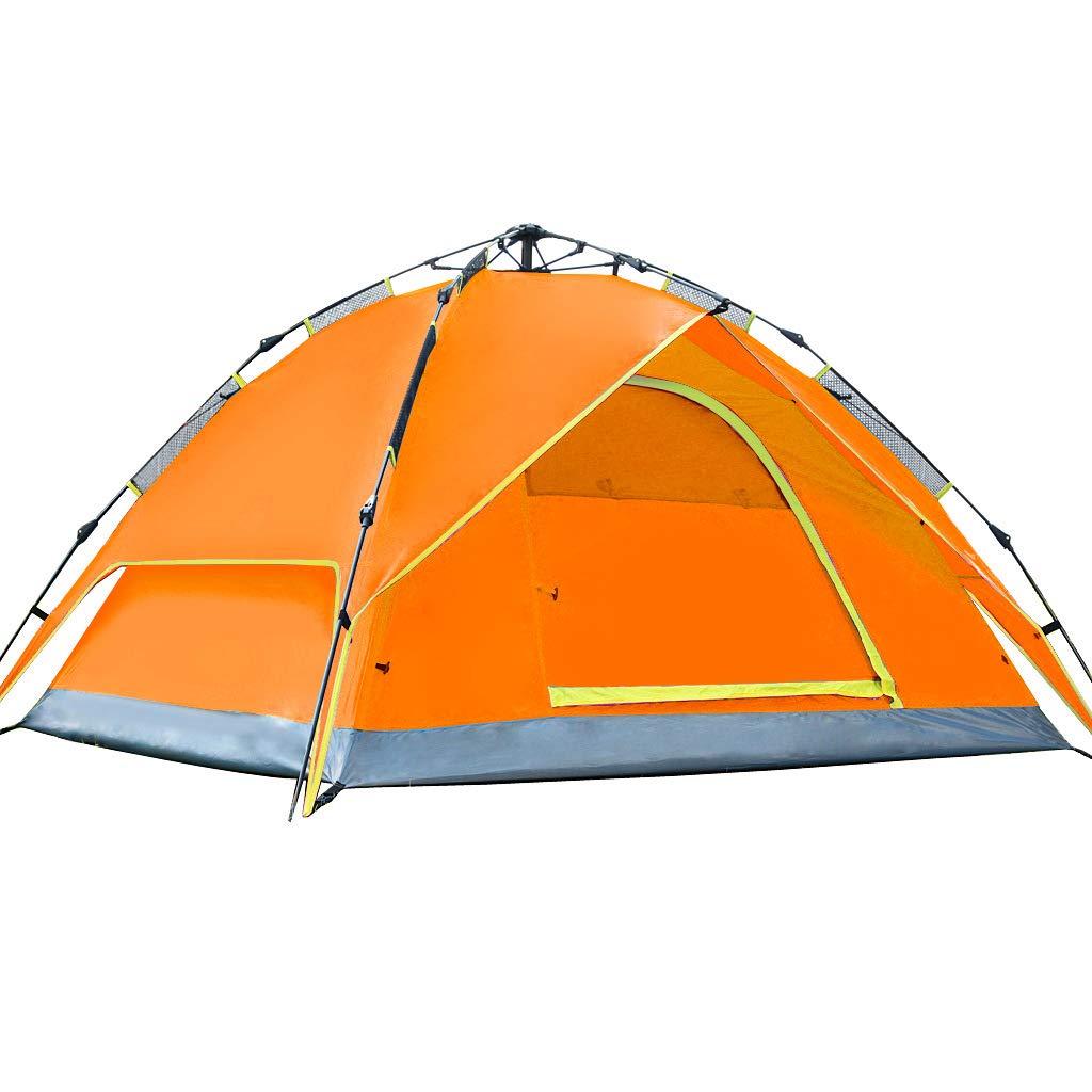 Z-Peng Bu アウトドアテント観光レジャー三シーズンプロフェッショナルテントマルチ人屋外自転車登山キャンプダブルアルミポールテント防水日焼け止めテント ++ (色 : Orange)  Orange B07JDVCQ4N