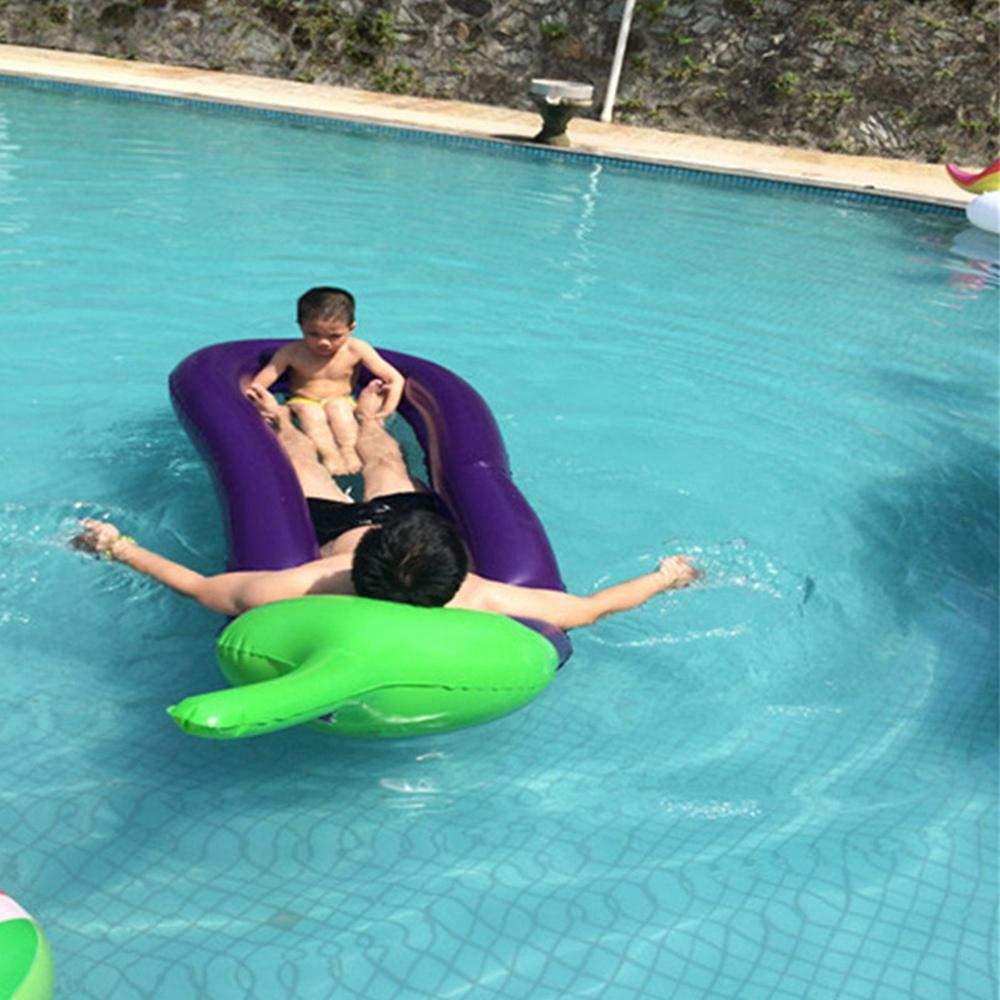 Amazon.com: Volwco Eggplant flotador de piscina, hinchable ...