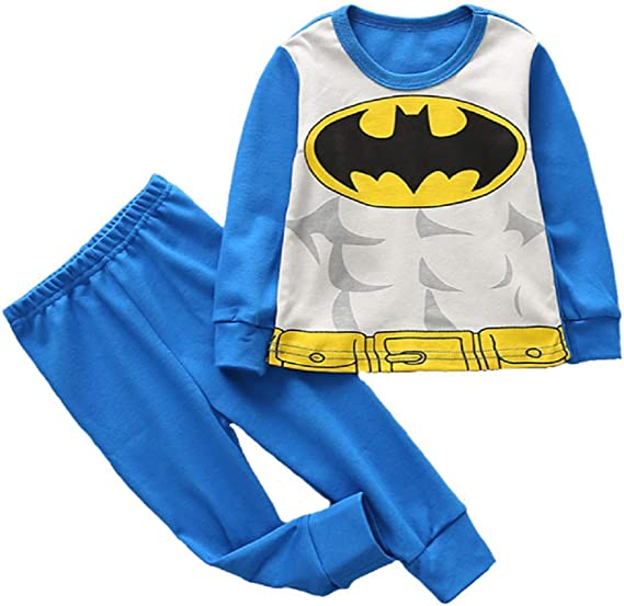 Kids Toddler Baby Boy Girls Superhero Pajamas Toddler Sleepwear Clothes
