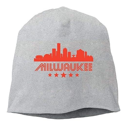 Amazon.com  LXXYZ Daily Beanie Hats Retro Milwaukee Men s Warm Winter Cuff  Watch Cap Classic  Clothing 28503d6fa4b