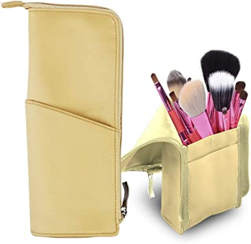 Organizador de brochas de maquillaje, bolsa de maquillaje, estuche profesional para viaje, portalápices, organizador de maquillaje, estuche para lápices, bolsa de cosméticos para viajes: Amazon.es: Belleza