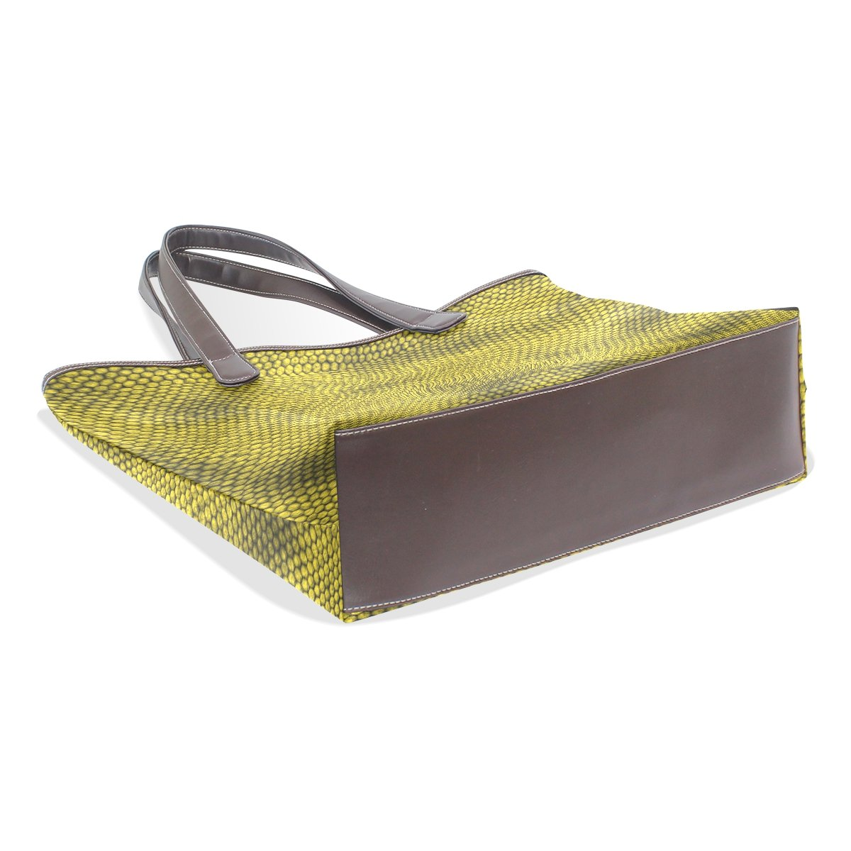 SCDS Green Texture PU Leather Lady Handbag Tote Bag Zipper Shoulder Bag