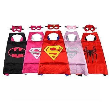 JouerNow capa de superhéroe con máscara para Niños(5 Juegos Tema)Superhero,Capitan