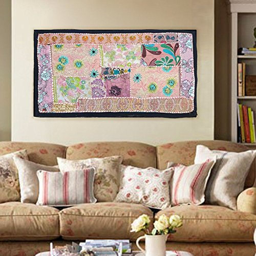 Hanging Patchwork (Indian handmade Wall Hanging Bohemian patchwork Tapestries , Headboard tapestries , Runner, WALL Art Embroidered Vintage Tapestry)