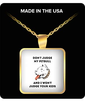Made In USA My Pit Bull Dog Funny Pendant Necklace Gold Indian Men For Women Girls Girlfriend Birthday Gifts Amazoncouk Sports Outdoors