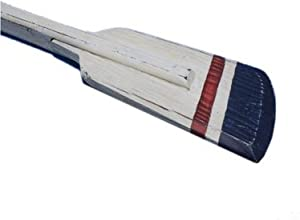 """Hampton Nautical Wooden Crawford Squared Rowing Oar with Hooks, 36"""", Wood"""