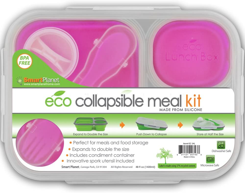 Crofton Expandable Lunch Box Expands twice its size