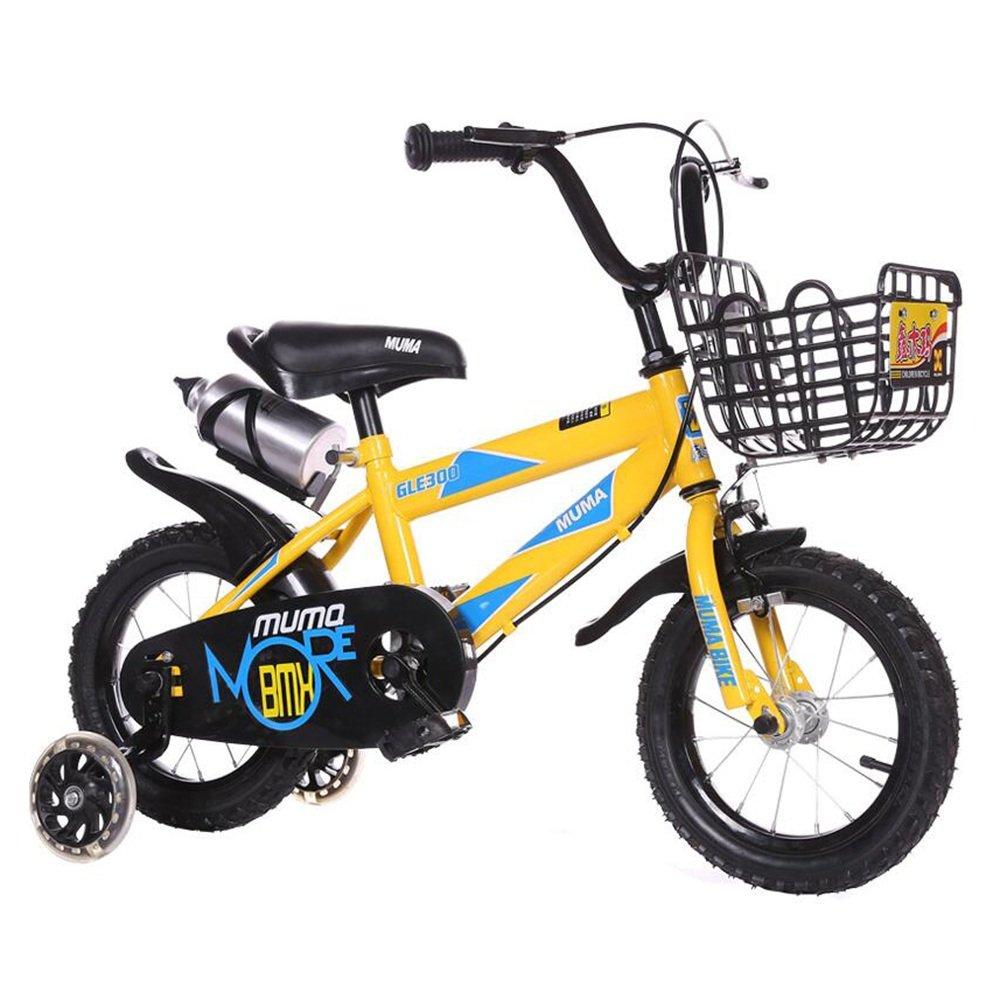 Brisk-子供時代 キッズバイク12インチ、14インチ、16インチ、18インチ、ボーイバイク&ガールズバイク、子供向けギフト -アウトドアスポーツ (色 : イエロー いえろ゜, サイズ さいず : 14 inch) B07DZW96V9 14 inch|イエロー いえろ゜ イエロー いえろ゜ 14 inch