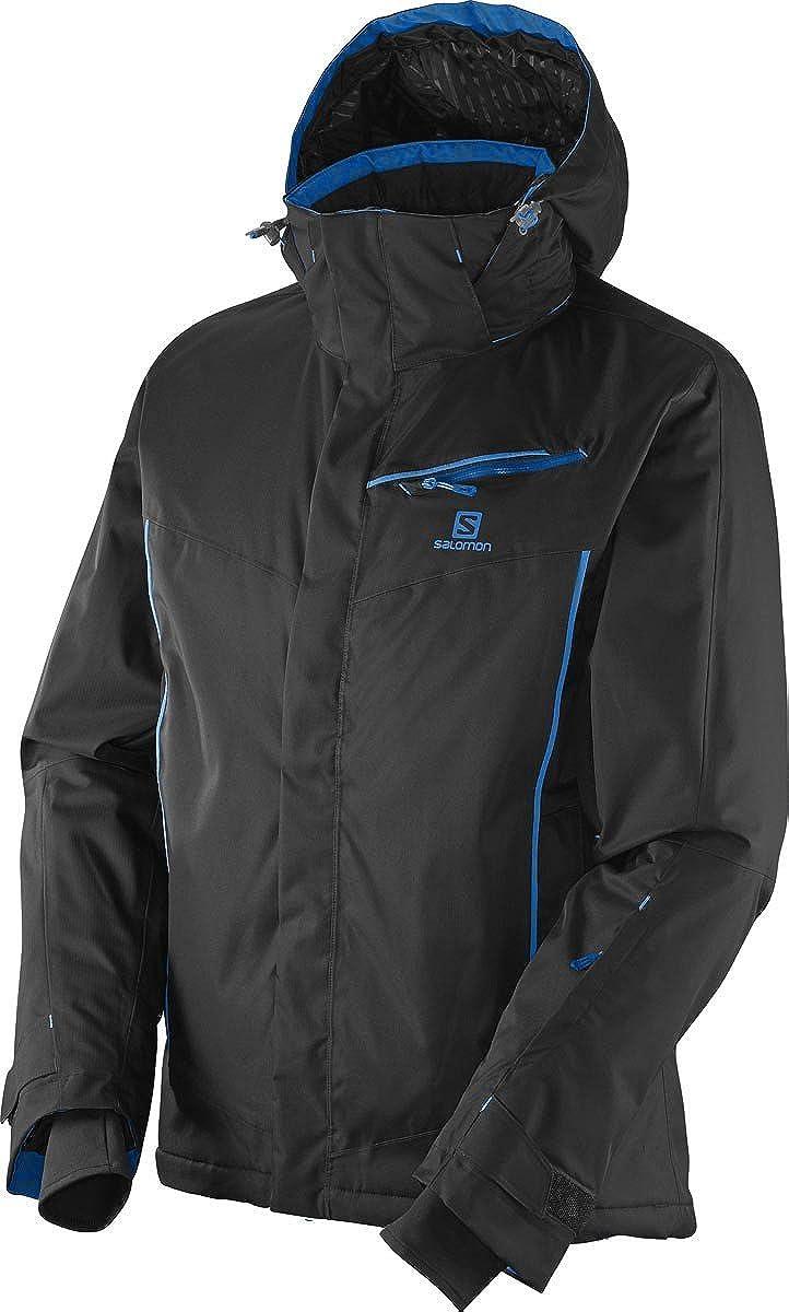 salomon herren skijacke ski jacke open jacket black schwarz blau