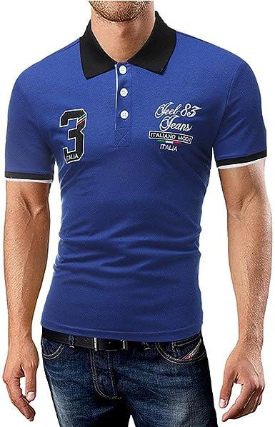 POLP Polo para Hombre de Manga Corta Casual Moda Algodón Camisas ...