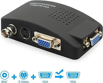 PC portatil VGA a TV AV RCA S-Video monitor conversor adaptador de señal audio