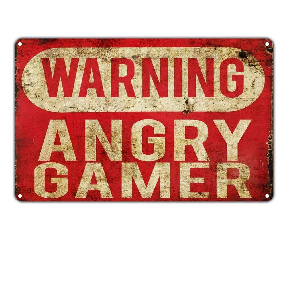 Taco Thursday Warning Angry Gamer Pintura de Hierro Cartel ...