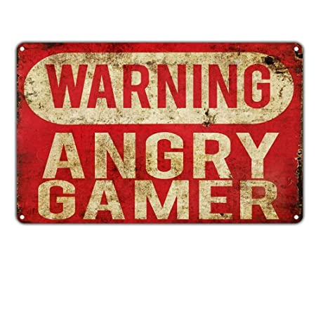 Taco Thursday Warning Angry Gamer Pintura de Hierro Cartel ...