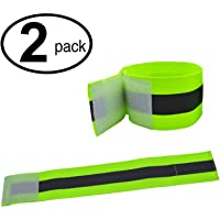 AMNQUERXUS High Visibility Reflective Night Running Walking Elastic Strap Wristbands Ankle Bands Armbands Safety for Cycling Walking Running Camping Outdoor Sports-Fits Women, Men & Kids