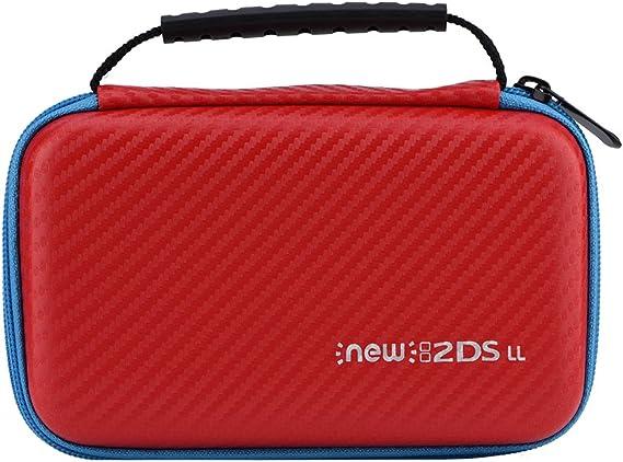 Eboxer Nuevo Estuche de Transporte Portátil 3 en 1 Bolsa de Estuche Rígido de Viaje con Protector Impermeable asa para Nintendo 2DS LL(Rojo): Amazon.es: Electrónica