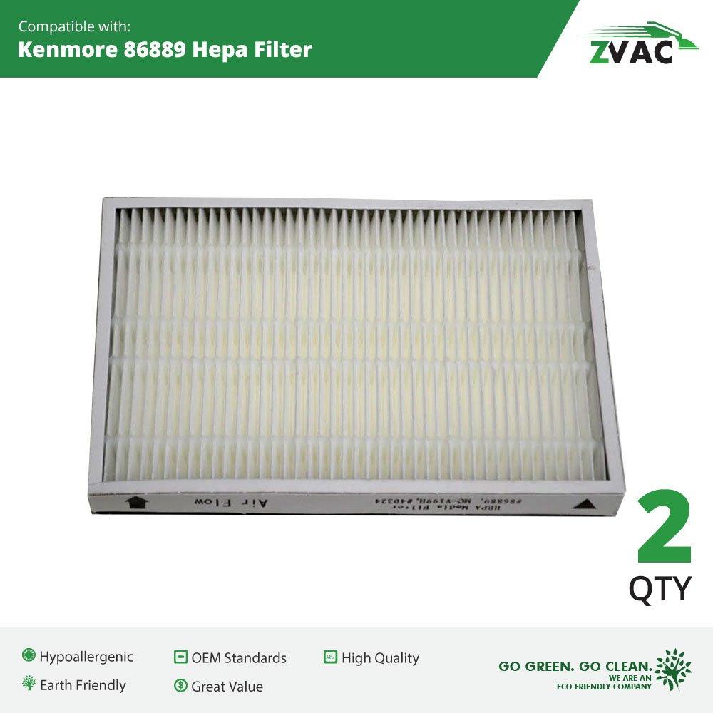 Kenmore ZVac 86889 HEPA Filter (2 pack) ZVac